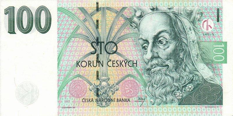 100 tschechische kronen eur