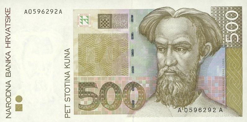 oud geld uit kroati235 wisselen kroatische kunas biljetten hrk