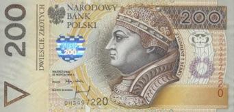 Oude poolse bankbiljetten