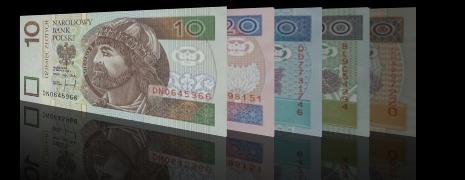 geld uit Polen - Poolse Zloty biljetten PLN wisselen